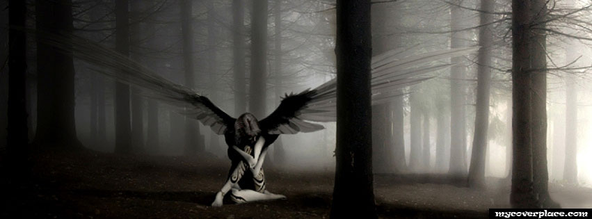 Black Angel Facebook Cover