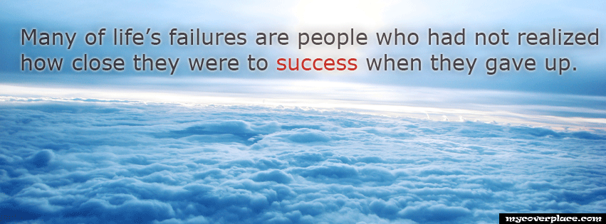 The road to success Facebook Cover