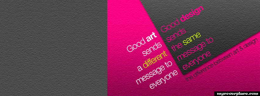 The difference between art and design Facebook Cover