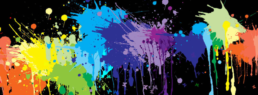 Abstract painting Facebook Cover