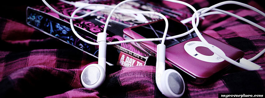 Ipod with headphones Facebook Cover