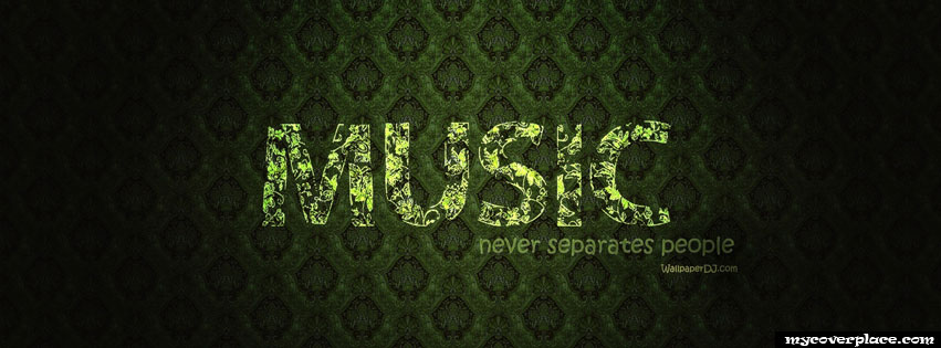 Music never separates people Facebook Cover