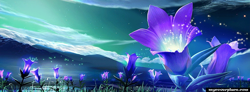 Blue lilys Facebook Cover