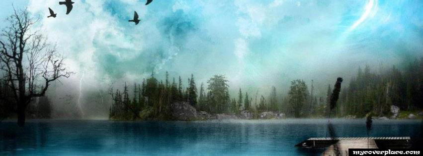 Amazing lake landskape Facebook Cover