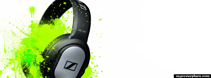 Headphones Facebook Cover