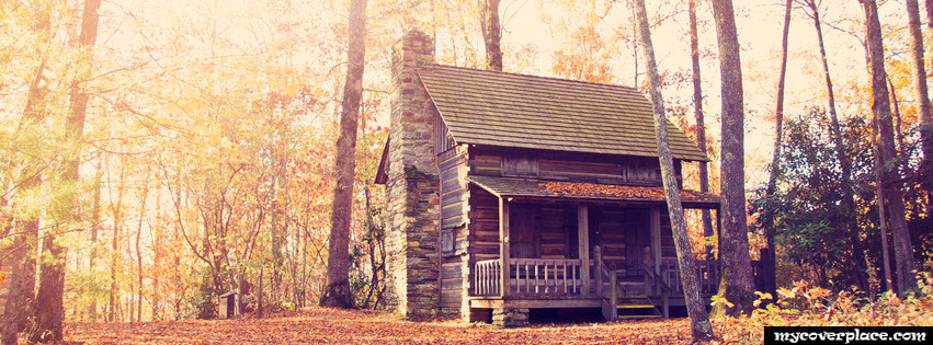 Old house in the forest Facebook Cover