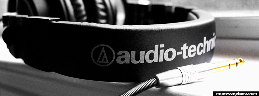 Audio technics headphones Facebook Cover