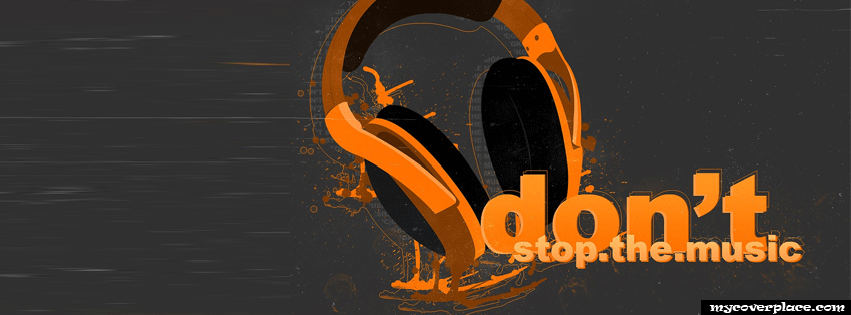 Dont stop the music Facebook Cover