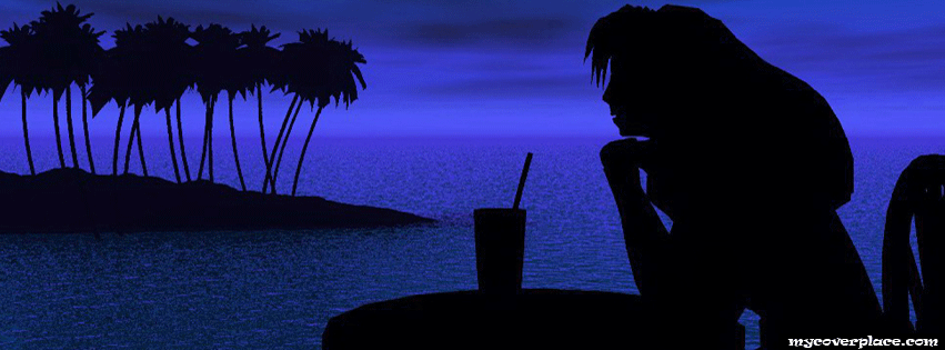 Woman on beach bar Facebook Cover