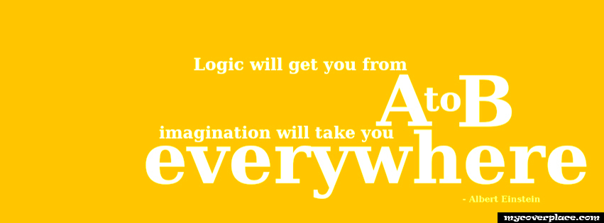 Imagination will take you everywhere Facebook Cover