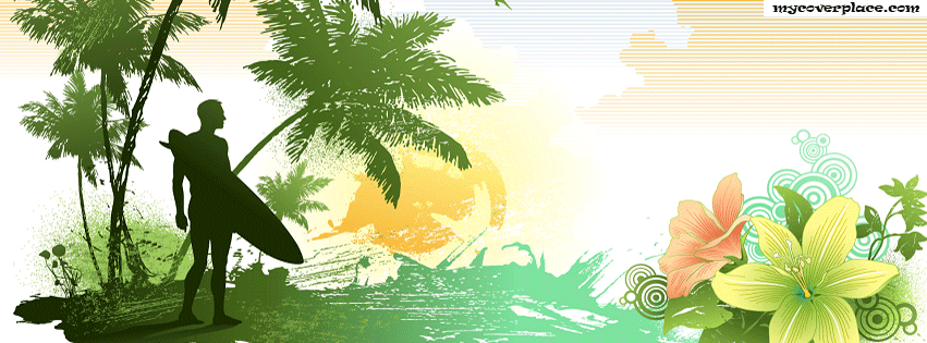 Art beach surfer Facebook Cover