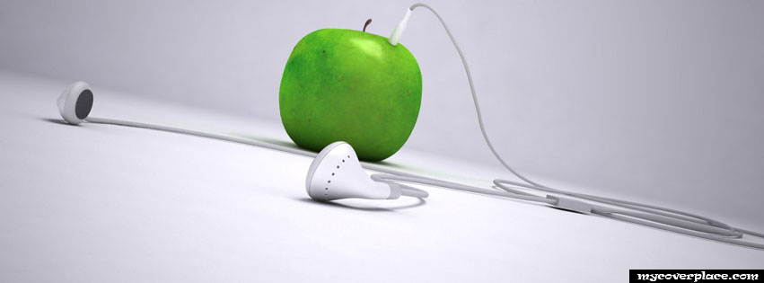 Apple headphones Facebook Cover