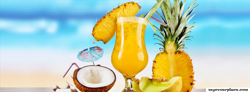 Tropical Cocktails Facebook Cover