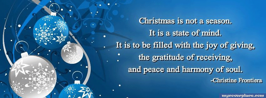 Christmas is a state of mind Facebook Cover
