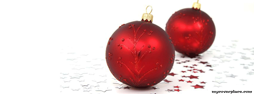 Christmas balls Facebook Cover