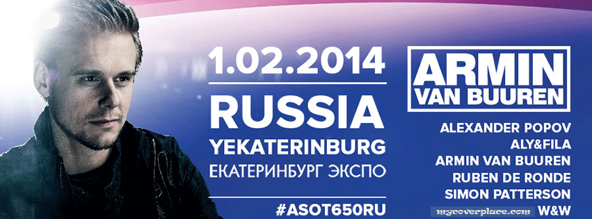 A State of Trance 650 Russia Facebook Cover