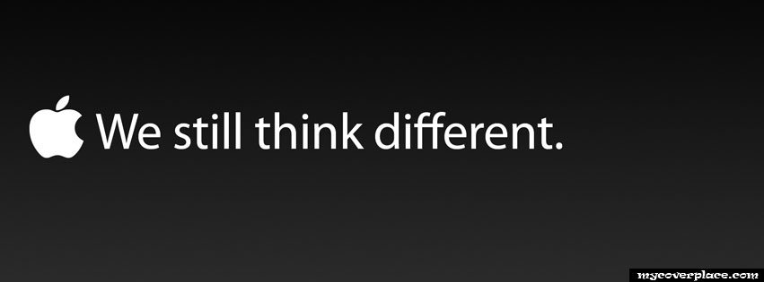 We still think different Apple logo Facebook Cover