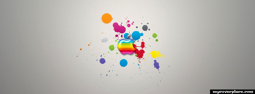 Rainbow Apple Logo Facebook Cover