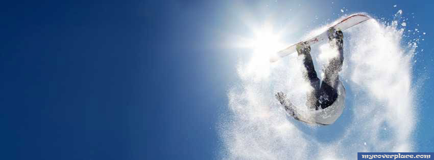 Snowboarding Jump Facebook Cover
