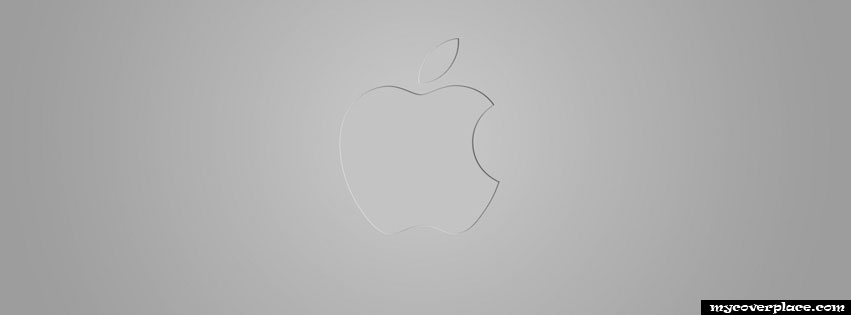 Silver Apple Logo Facebook Cover