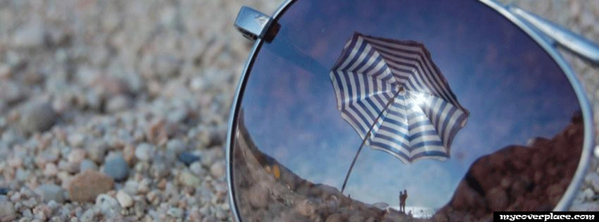 Sunglass on the beach Facebook Cover