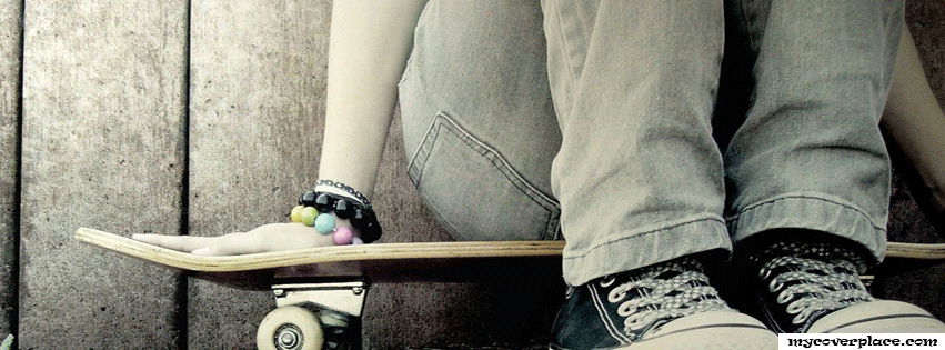 Girl with Skateboard Facebook Cover