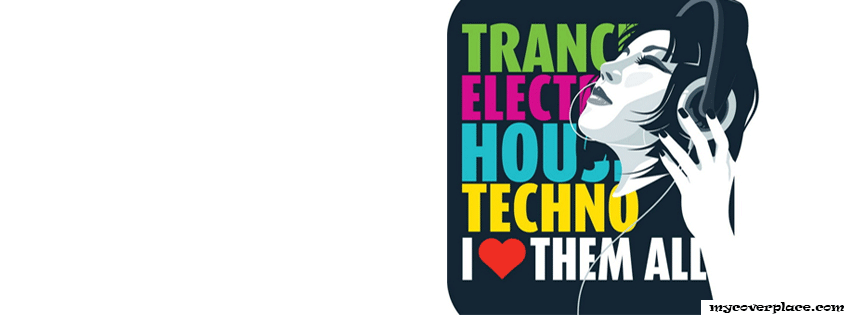 Trance Electro House Techno Facebook Cover