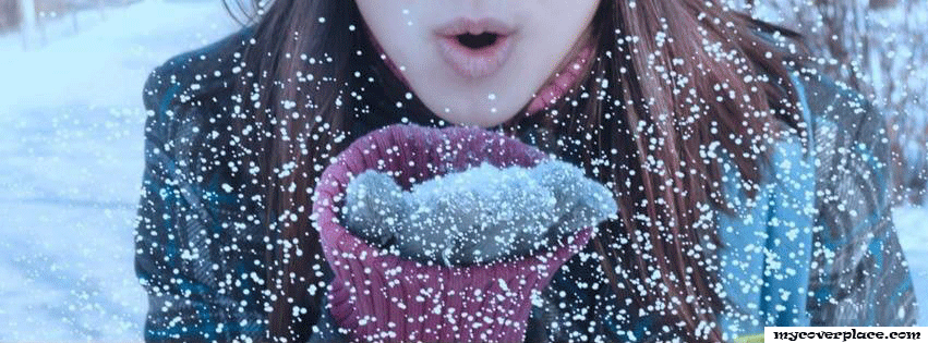 Girl in snow Facebook Cover