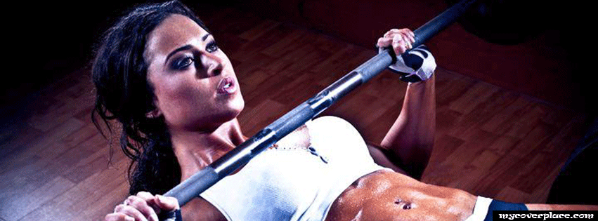 Fitness girl Facebook Cover