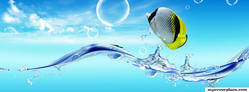 Abstract fish Facebook Cover