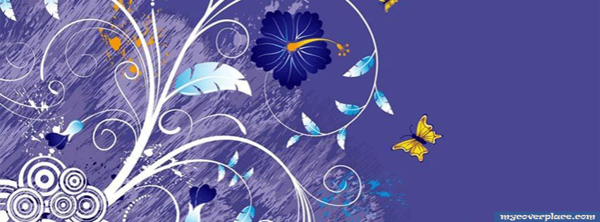 Abstract flower Facebook Cover