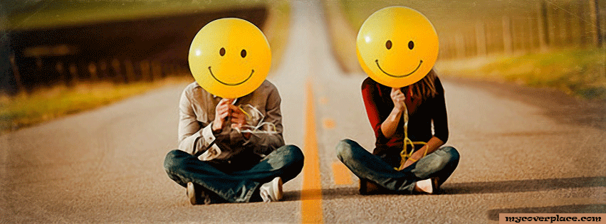 Balloon smile Facebook Cover
