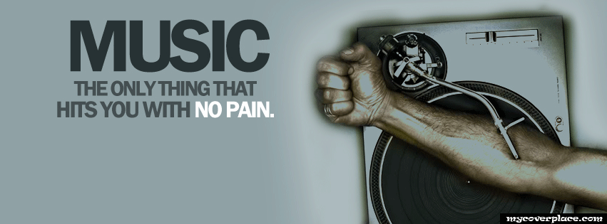 The only thing that hits you with no pain Facebook Cover