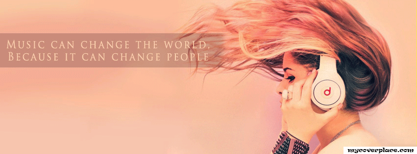 Music can change the world Facebook Cover