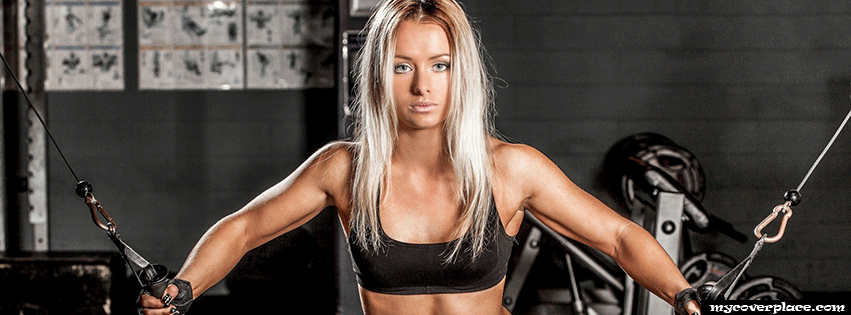 Blonde fitness girl Facebook Cover
