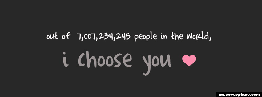 I Choose you Facebook Cover