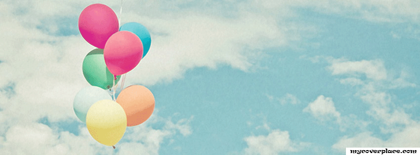 Balloons in the sky Facebook Cover