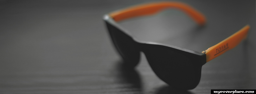 Cool Black Sunglasses Facebook Cover