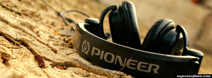 Black Pioneer Headphones Facebook Cover