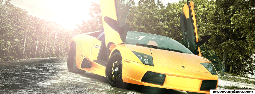 Yellow Lamborgini Facebook Cover