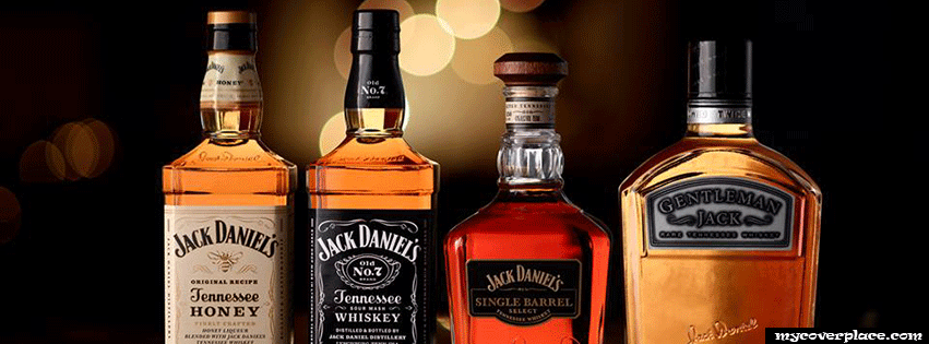 Jack Daniels Whiskey Bottles Facebook Cover