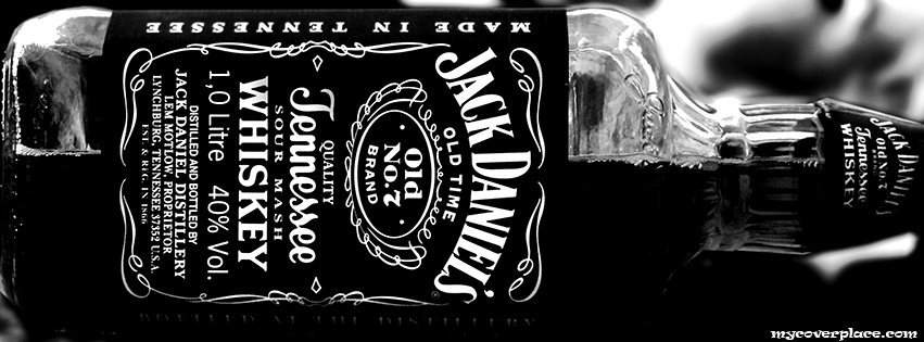 Jack Daniels Whiskey Bottle Facebook Cover