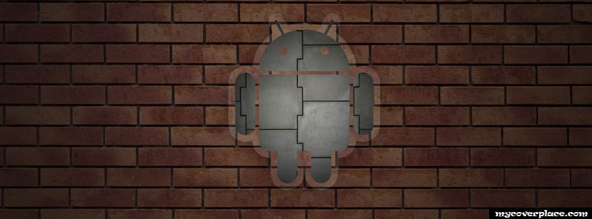 Android Logo in the wall Facebook Cover