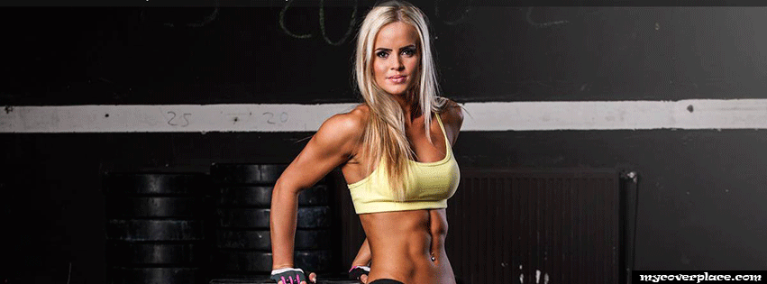 Blonde Fitness Girl Workout Facebook Cover
