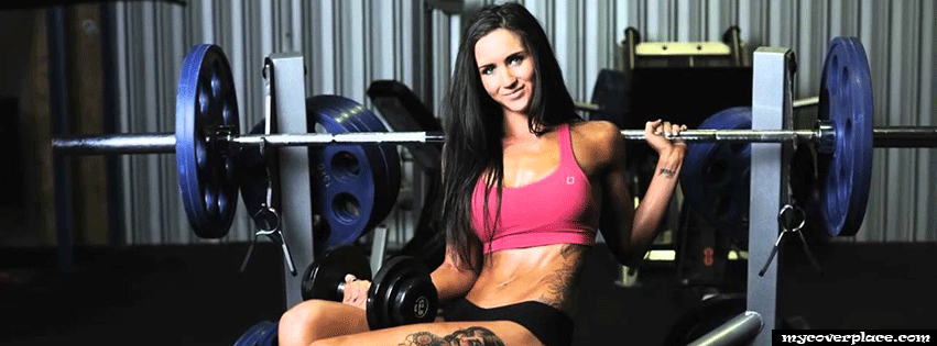 Fitness Girl Workout Facebook Cover