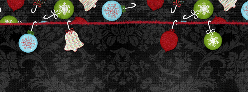 Christmas Ornaments Facebook Cover