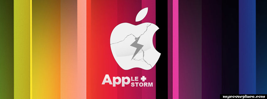 Apple Storm Logo Facebook Cover