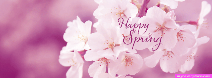 Happy Spring Facebook Cover