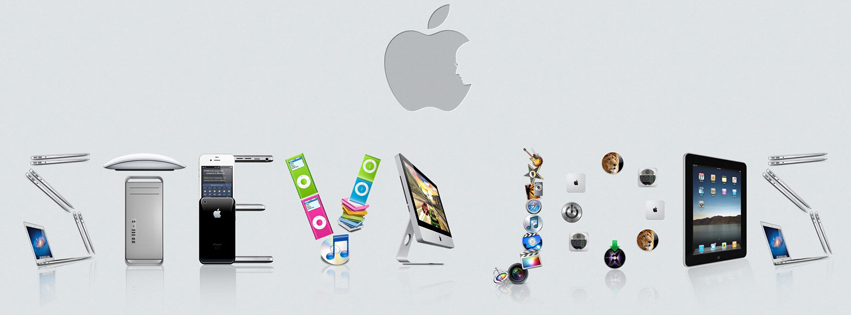 Steve Jobs Apple Products Facebook Cover
