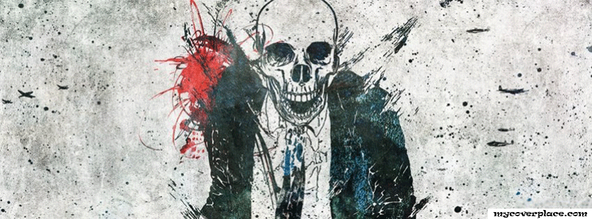 Skull suit Facebook Cover